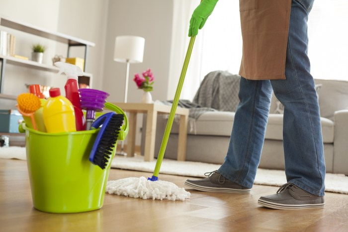 deep cleaning home